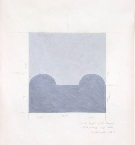 *MATIAS SPESCHA (Trun 1925–2008 Zurich) Untitled (study for a sculpture). 1974. …