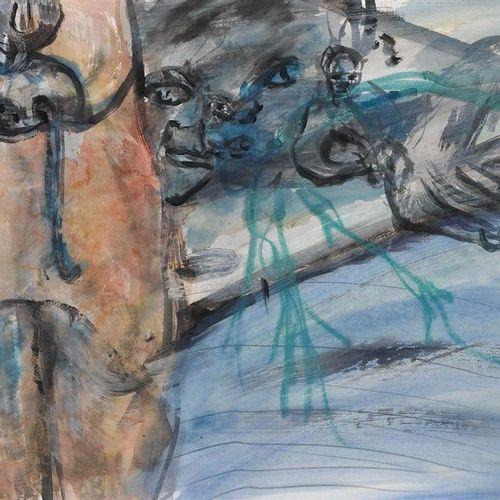 *MARTIN DISLER (Seewen 1949–1996 Geneva) Untitled. 1991/92. Watercolor on firm w…