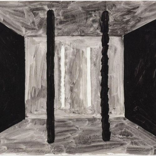 *MATIAS SPESCHA (Trun 1925–2008 Zurich) Räumliche Idee. 1983. Gouache on wove pa…