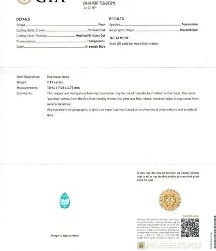 PARAIBA TOURMALINE AND DIAMOND EAR PENDANTS, BY PAOLOBONGIA. Pink gold 750, 18g.…