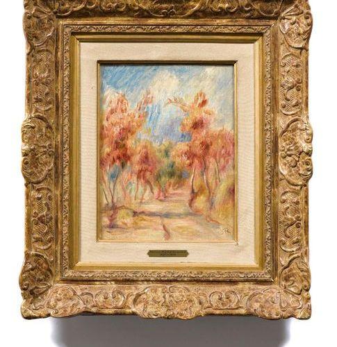 PIERRE AUGUSTE RENOIR (Limoges 1841–1919 Cagnes sur Mer) L'allée d'arbres. Circa…