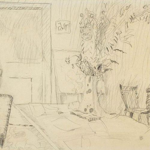 *PIERRE BONNARD (Fontenay aux Roses 1867–1947 Le Cannet) Pot de fleurs dans la s…