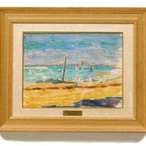 PIERRE BONNARD (Fontenay aux Roses 1867–1947 Le Cannet) Marine dans un port du m…