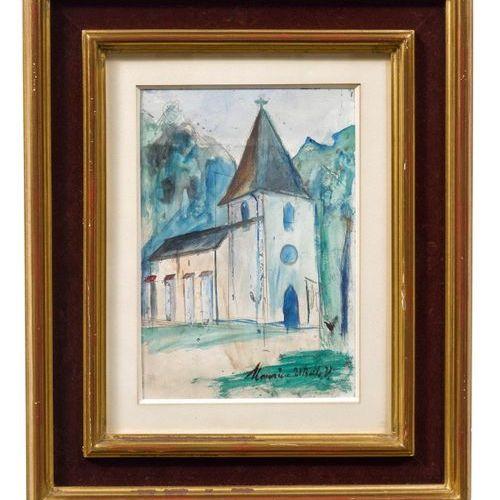 *MAURICE UTRILLO (Paris 1883–1955 Dax) La Chapelle Fraisnée près de Clairvaux le…