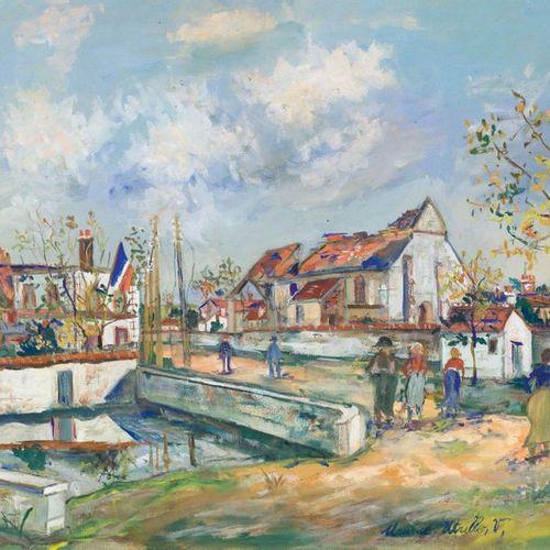 MAURICE UTRILLO (Paris 1883–1955 Dax) L'église bombardée de Charleville. 1920. G…