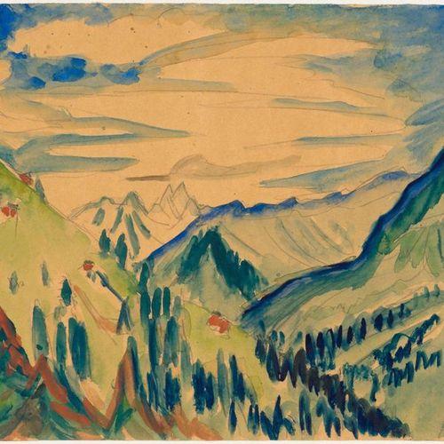 ERNST LUDWIG KIRCHNER (Aschaffenburg 1880–1938 Frauenkirch near Davos) Davoser B…