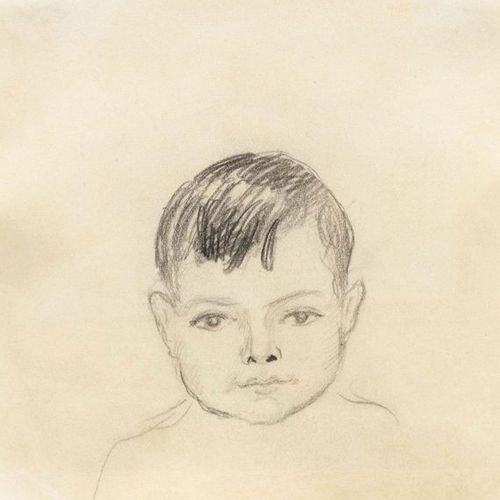 *AUGUST MACKE (Meschede 1887–1914 Perthes les Hurlus) Walter Macke. 1913. Pencil…