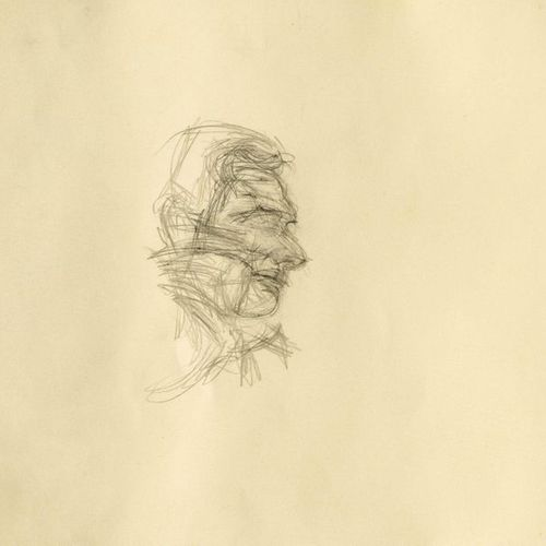 *ALBERTO GIACOMETTI (Borgonovo 1901–1966 Chur) Olivier Larronde. 1958. Pencil on…