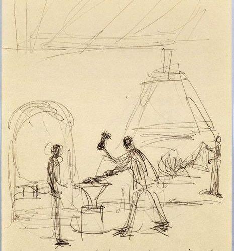 ALBERTO GIACOMETTI (Borgonovo 1901–1966 Chur) Scène de Café. Scène de Forge. Dou…