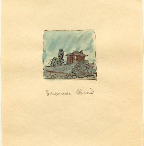 HERMANN HESSE (Calw 1877–1962 Montagnola) 2 p.: Einsamer Abend. Lot from a water…