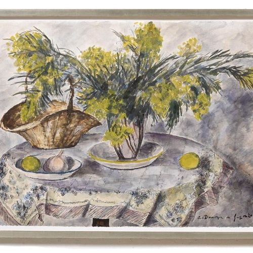 ANDRÉ DUNOYER DE SEGONZAC (Boussy Saint Antoine 1884–1974 Paris) Mimosas et citr…