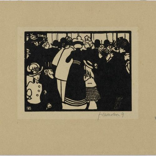FELIX VALLOTTON(Lausanne 1865 1925 Paris)L'éxposition universelle. 1901 .Series …