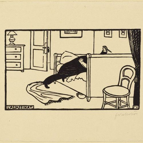 FELIX VALLOTTON (Lausanne 1865 1925 Paris )L'Assassinat . 1893 .Woodcut. From an…