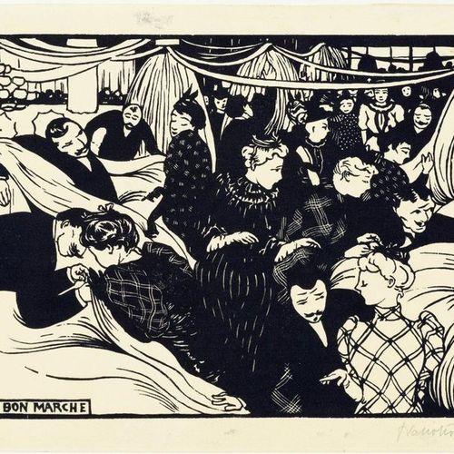 FELIX VALLOTTON (Lausanne 1865 1925 Paris )Le bon marché . 1893 .Woodcut. From a…