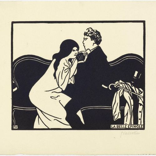 FELIX VALLOTTON (Lausanne 1865 1925 Paris )La Belle Épingle . 1897 .Woodcut. Fro…