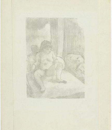 *EDGAR DEGAS ( 1834 Paris 1917 )Repos sur le lit. 1878/79 .Monotype. Outside an …