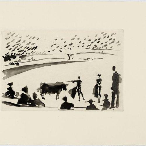 *PABLO PICAS SO (Málaga 1881 1973 Mougins)Citando a matar. 1957 .Aquatint etchin…