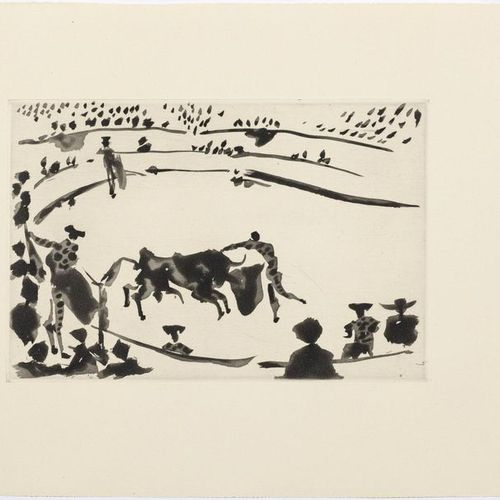 *PABLO PICAS SO (Málaga 1881 1973 Mougins)La Estocada. 1957 .Aquatint etching. F…
