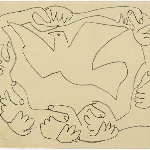 PABLO PICASSO (Málaga 1881 1973 Mougins )Les mains liées IV. 1952 .Lithograph. 4…
