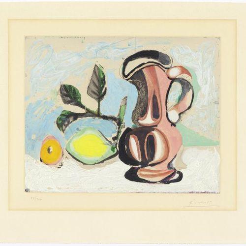 AFTER PABLO PICASSO (Málaga 1881 1973 Mougins) Nature morte au citron et also pi…