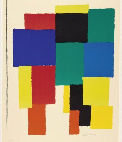 SONIA DELAUNAY TERK (Gradizsk 1885 1979 Paris) Love. Ca. 1970. Colour lithograph…