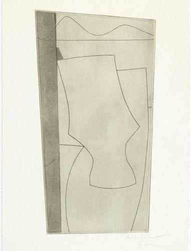 BEN NICHOLSON (Denham 1894 1982 London )Goblet Forms. 1967 .Etching and aquatint…