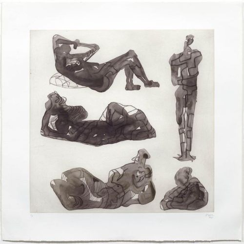 HENRY MOORE ( Castleford 1898 1986 Much Hadham )Five Sculpture Ideas. 1979/1980 …