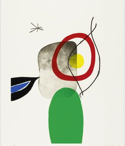 JOAN MIRÓ (Montroig 1893 1983 Palma de Mallorca )Tir à l 'Arc. 1972 .Colour etch…
