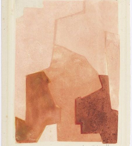 *SERGE POLIAKOFF (Moscow 1900 1969 Paris )Composition rose. 1964 .Color etching …