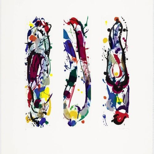 SAM FRANCIS (San Mateo 1923 1994 Santa Monica )Untitled . 1987 .Color aquatint e…