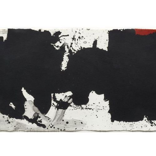 ROBERT MOTHERWELL (Aberdeen 1915 1991 Provincetown ) Black with no way out. 1983…