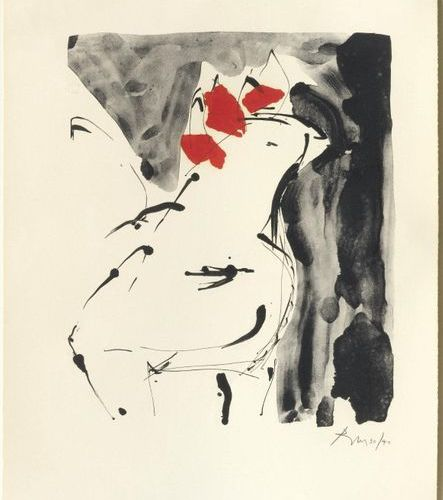 ROBERT MOTHERWELL ( Aberdeen 1915 1991 Provincetown)Le Coq. 1974/75 .Color litho…