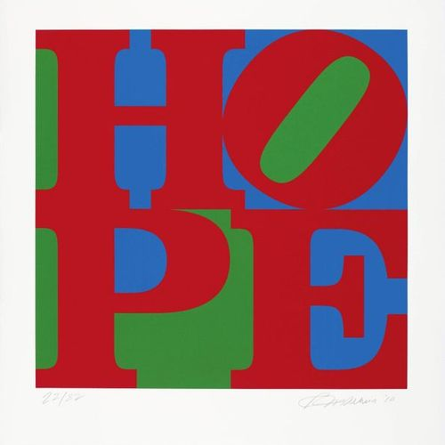ROBERT INDIANA (New Castle 1928 201 8 Vinalhaven)HOPE. 2010 .Color serigraphy. 2…