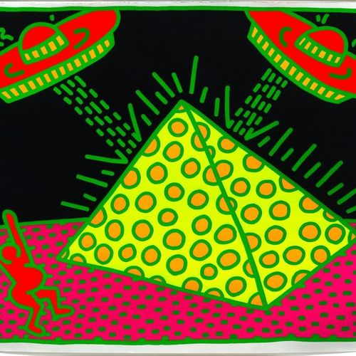 *KEITH HARING (Reading 1958 1990 New York ) Untitled. 1983 .Color serigraphy. 52…