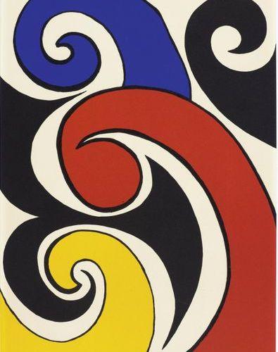 ALEXANDER CALDER (Lawnton 1898 1976 New York) The Waves. Color lithography. XIX/…