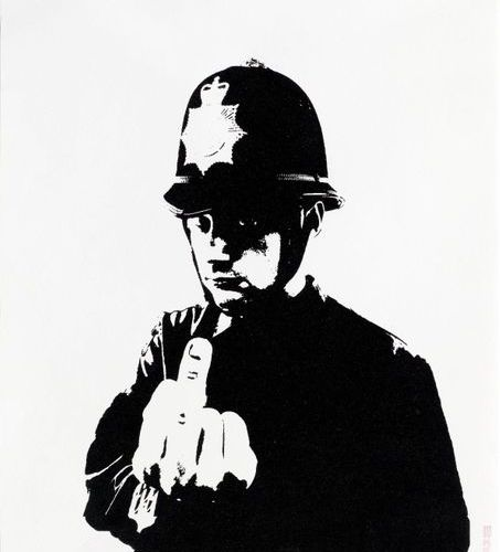 BANKSY (Bristol 1974 lives and works in England and elsewhere )Rude Copper . 200…