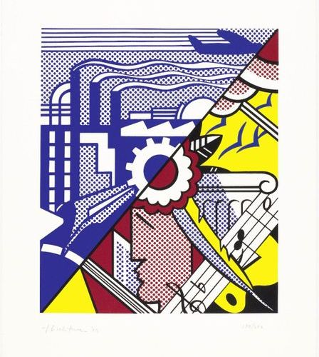 *ROY LICHTENSTEIN (1923 New York 1997 )Industry and the Arts II. 1969 .Color ser…
