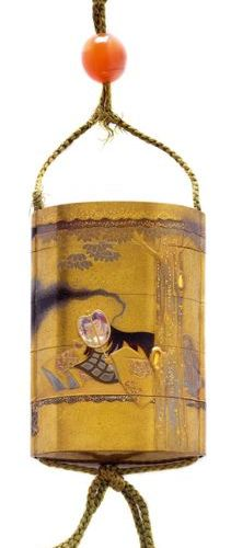 *A LACQUERED INRO DEPICTING ROSEI'S DREAM BY KOMA KANSAI. Japan, 19th c. Length …