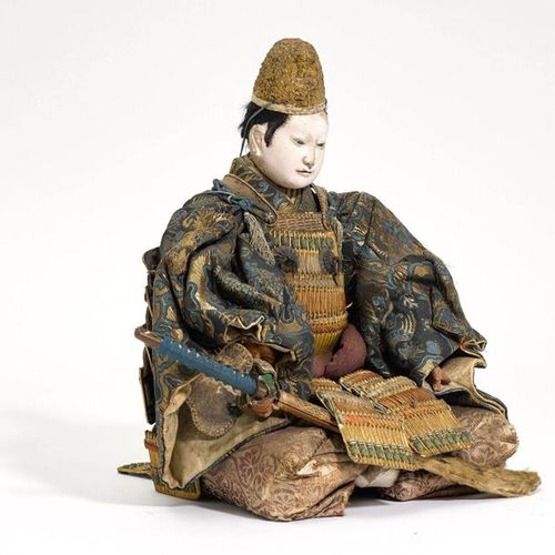 AN IMPRESSIVE DOLL (MUSHA NINGYO) OF MINAMOTO NO YOSHITSUNE. Japan, 19th c. Heig…