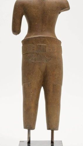 *A FINE SANDSTONE TORSO. Khmer, Angkor period, Angkor Wat style, 12th c. Height …