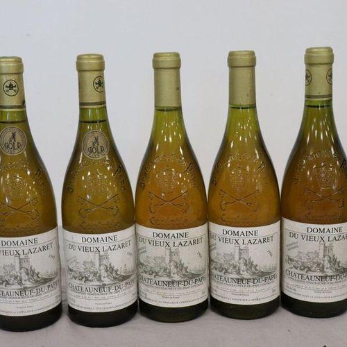 5 Blles CHÂTEAUNEUF DU PAPE blanc Domaine du Vieux Lazaret 5 Blles CHÂTEAUNEUF D…