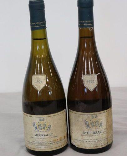 2 Blles MEURSAULT mise Ch. De Puligny Montrachet : 2 Blles MEURSAULT mise Ch. De…