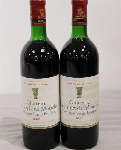 2 Blles CH. LA CROIX DE MOUCHET, Montagne Saint Emilion 1985 2 Blles CH. LA CROI…