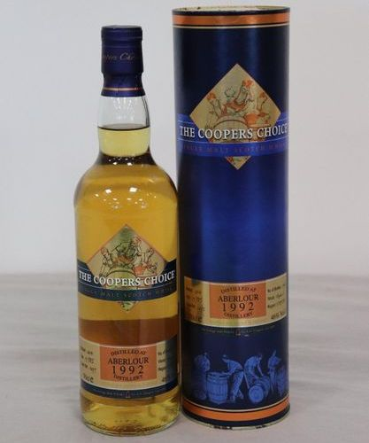 """1 Blle ABERLOUR Scotch Whisky Single Speyside,""""THE COOPER CHOICE"""", 1992 1 Blle A…"""