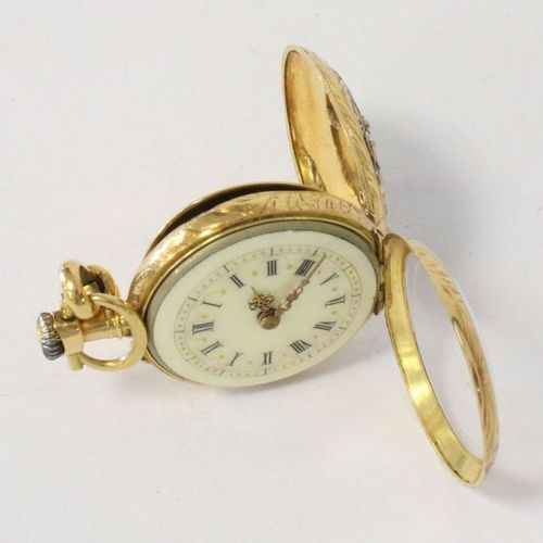 MONTRE DE COL et FERMOIR YELLOW GOLD NECK WATCH and WATCH CLOSER (750) with gold…