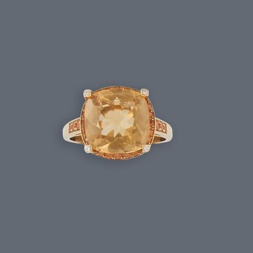 """MAUBOUSSIN MAUBOUSSIN  RING in yellow gold (750) model """"Couleur d'amour"""" set wit…"""