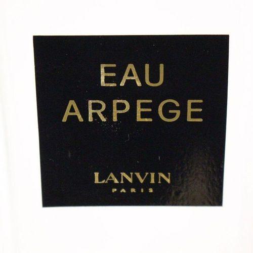"LANVIN LANVIN  BIG BOTTLE of perfume ""Eau Arpege"", with cap  Height 24 cm; Width…"