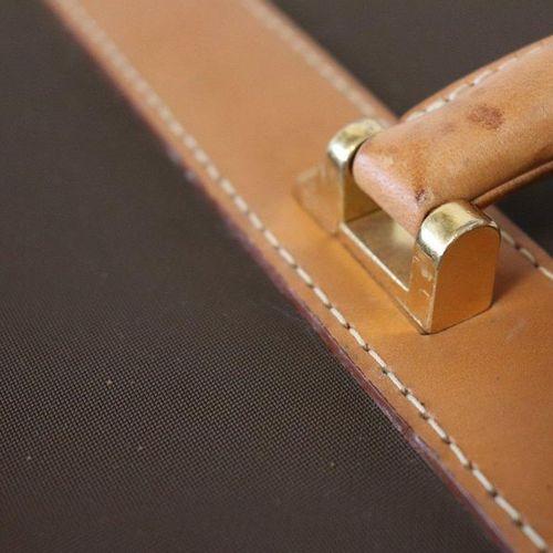LANCEL LANCEL  TRAVEL BAG with wheels and folding handle, semi rigid, in brown c…
