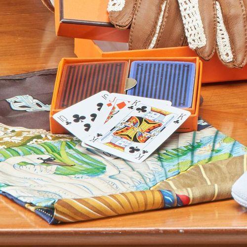 HERMES, Paris HERMES, Paris  TWO GAMES of 52 cards in original box.  (Good condi…