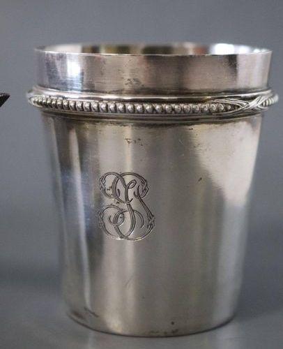 ENSEMBLE ENSEMBLE en argent uni à filet de perles rubané, comprenant une petite …